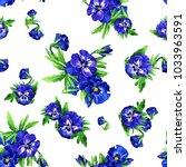 seamless pattern of watercolor... | Shutterstock . vector #1033963591
