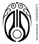 symmetrical black drawing is a...   Shutterstock .eps vector #1033968271