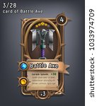 card of fantasy battle axe... | Shutterstock .eps vector #1033974709