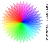 rainbow color wheel. colorful...   Shutterstock .eps vector #1033981351