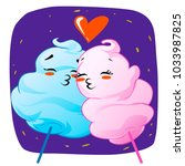 cotton candy.  couples in love. ...   Shutterstock .eps vector #1033987825