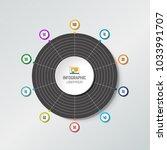 circle radar  spider net chart  ... | Shutterstock .eps vector #1033991707