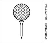 golf ball on tee icon vector... | Shutterstock .eps vector #1033995961