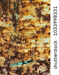 texture of rusty iron  cracked... | Shutterstock . vector #1033998331