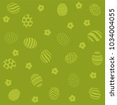 easter holiday green background ... | Shutterstock .eps vector #1034004055