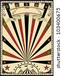 circus vintage sunbeams. a... | Shutterstock .eps vector #103400675
