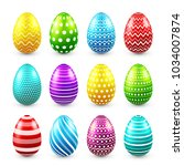 Easter Eggs Colored Set. Sprin...