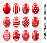 Easter Eggs Red Set. Spring....