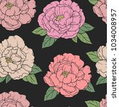 beautiful seamless pattern with ... | Shutterstock .eps vector #1034008957