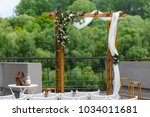 area of the wedding ceremony... | Shutterstock . vector #1034011681