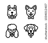 dogs icon set | Shutterstock .eps vector #1034012407