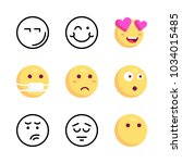 icons emoji. vector angry  in... | Shutterstock .eps vector #1034015485