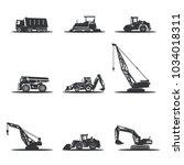 vector heavy construction... | Shutterstock .eps vector #1034018311