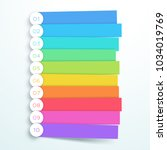 vector colorful banner steps... | Shutterstock .eps vector #1034019769