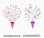 vector confetti. festive... | Shutterstock .eps vector #1034020927