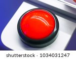 red alarm round vintage button | Shutterstock . vector #1034031247