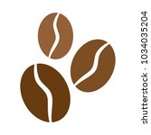 coffee bean icon on white... | Shutterstock .eps vector #1034035204