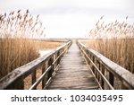 a wooden pier in long island ... | Shutterstock . vector #1034035495
