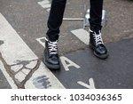 paris january 24  2017. street...   Shutterstock . vector #1034036365
