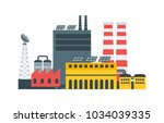 modern ecological factory with... | Shutterstock .eps vector #1034039335