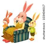 illustration of a mother bunny... | Shutterstock . vector #103404017