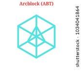 vector arcblock  abt  digital...   Shutterstock .eps vector #1034041864
