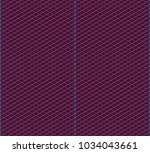 isometric grid. vector seamless ... | Shutterstock .eps vector #1034043661