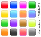 squared glossy icons set.... | Shutterstock .eps vector #1034044291