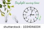 daylight saving time. dst. wall ... | Shutterstock . vector #1034046034