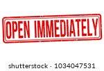open immediately grunge rubber... | Shutterstock .eps vector #1034047531