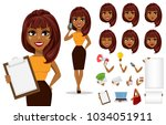 pack of body parts and emotions.... | Shutterstock .eps vector #1034051911