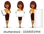 african american business woman ... | Shutterstock .eps vector #1034051944