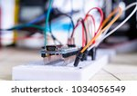 breadboard connected to arduino.... | Shutterstock . vector #1034056549