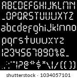 digital font. alarm clock... | Shutterstock .eps vector #1034057101
