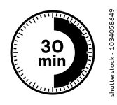 set of timers   thirty minutes  ... | Shutterstock .eps vector #1034058649