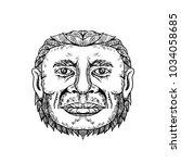 doodle art illustration of head ... | Shutterstock . vector #1034058685