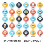abstract vector set of colorful ... | Shutterstock .eps vector #1034059027