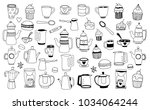 tea  coffee and desserts   Shutterstock .eps vector #1034064244