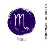 violet round scorpio zodiac...