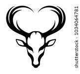 deer head on a white background | Shutterstock .eps vector #1034064781
