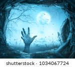 halloween concept  scary hand... | Shutterstock . vector #1034067724