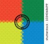 four colour seamless circle...   Shutterstock .eps vector #1034068699