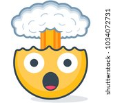 isolated head explosion emoticon | Shutterstock .eps vector #1034072731
