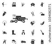 combine harvester icon. element ... | Shutterstock .eps vector #1034082571