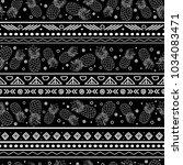 vector black and white tribal... | Shutterstock .eps vector #1034083471