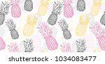 vector yellow grey pink... | Shutterstock .eps vector #1034083477