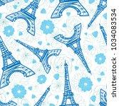 Vector Blue Eifel Tower Paris...