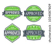 approved quality seal stamp...   Shutterstock .eps vector #1034087809
