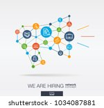 we are hiring  integrated thin... | Shutterstock .eps vector #1034087881