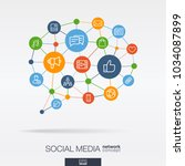 social media integrated thin... | Shutterstock .eps vector #1034087899